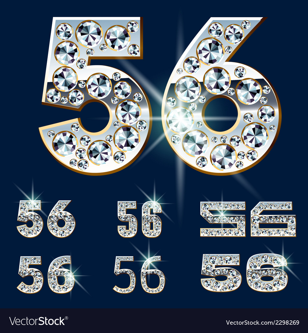 Ultimate alphabet of diamonds and platinum ingot vector | Price: 1 Credit (USD $1)