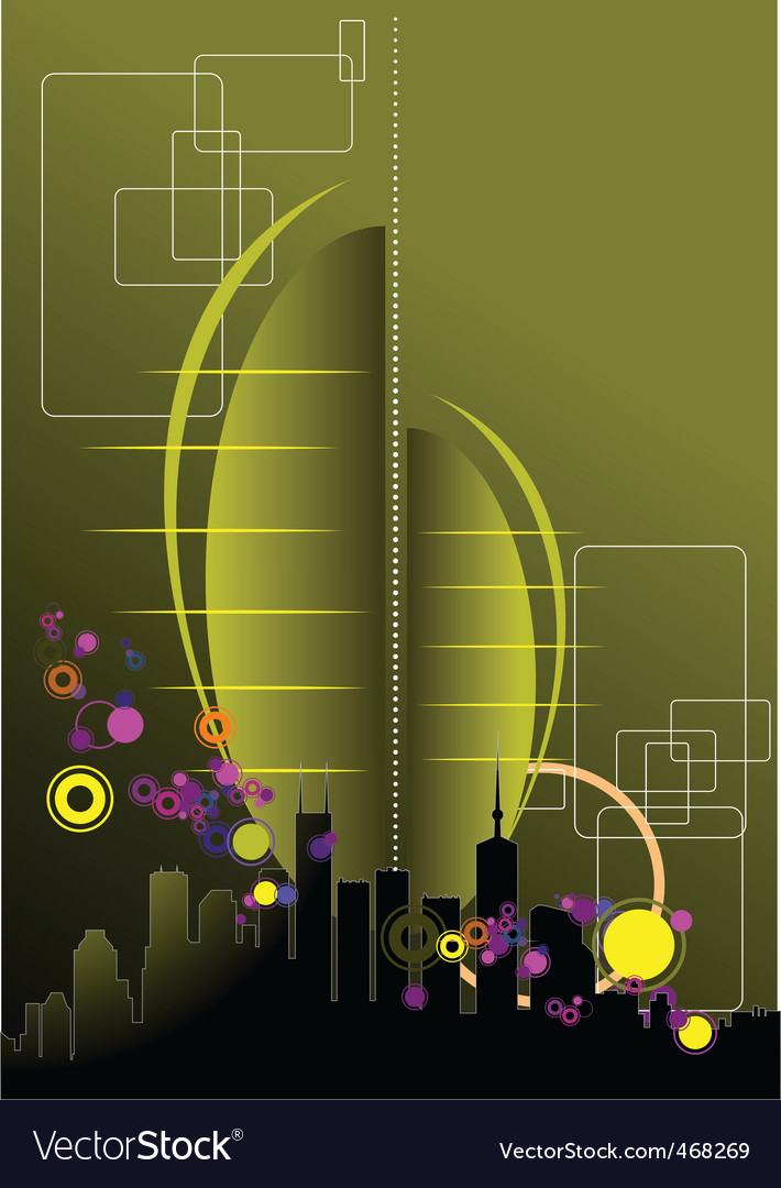 Urban abstract composition vector | Price: 1 Credit (USD $1)