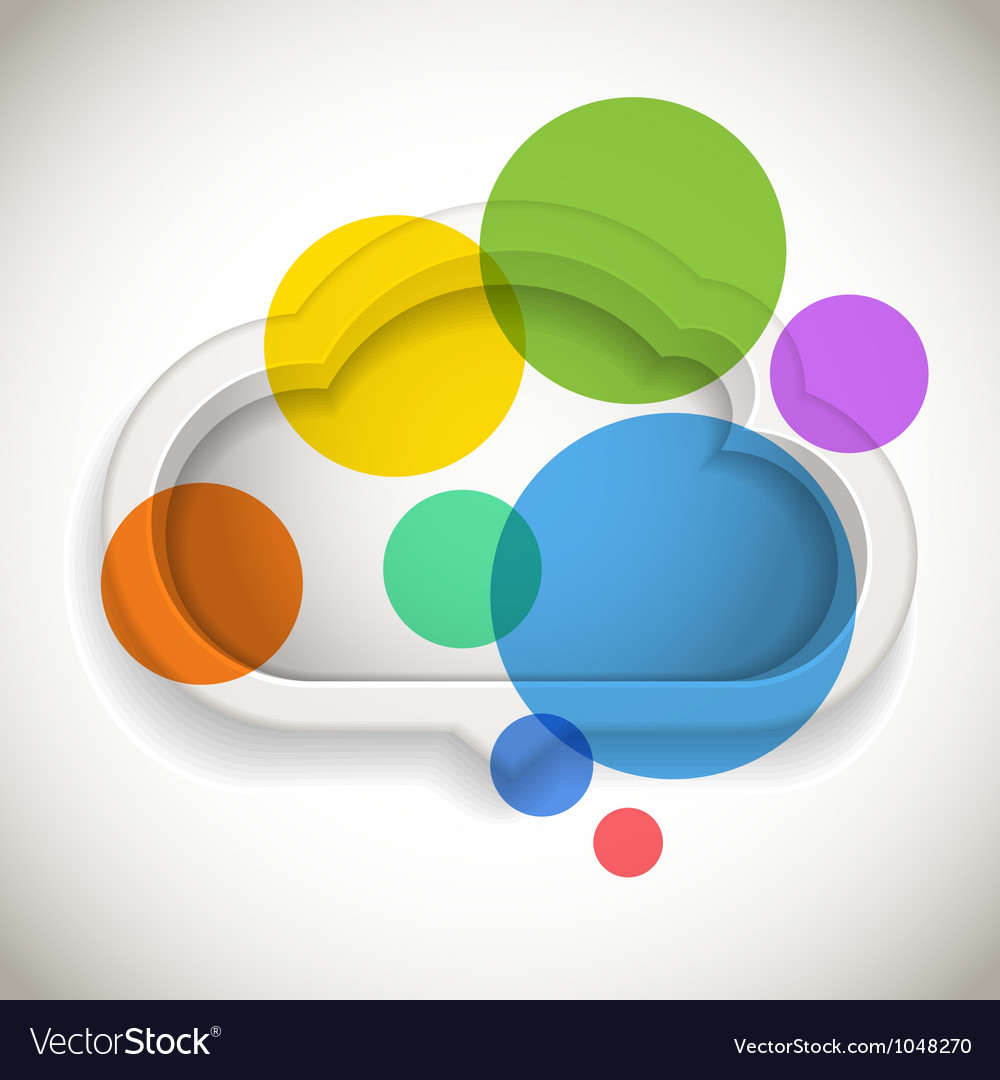 Abstract speech cloud vector | Price: 1 Credit (USD $1)