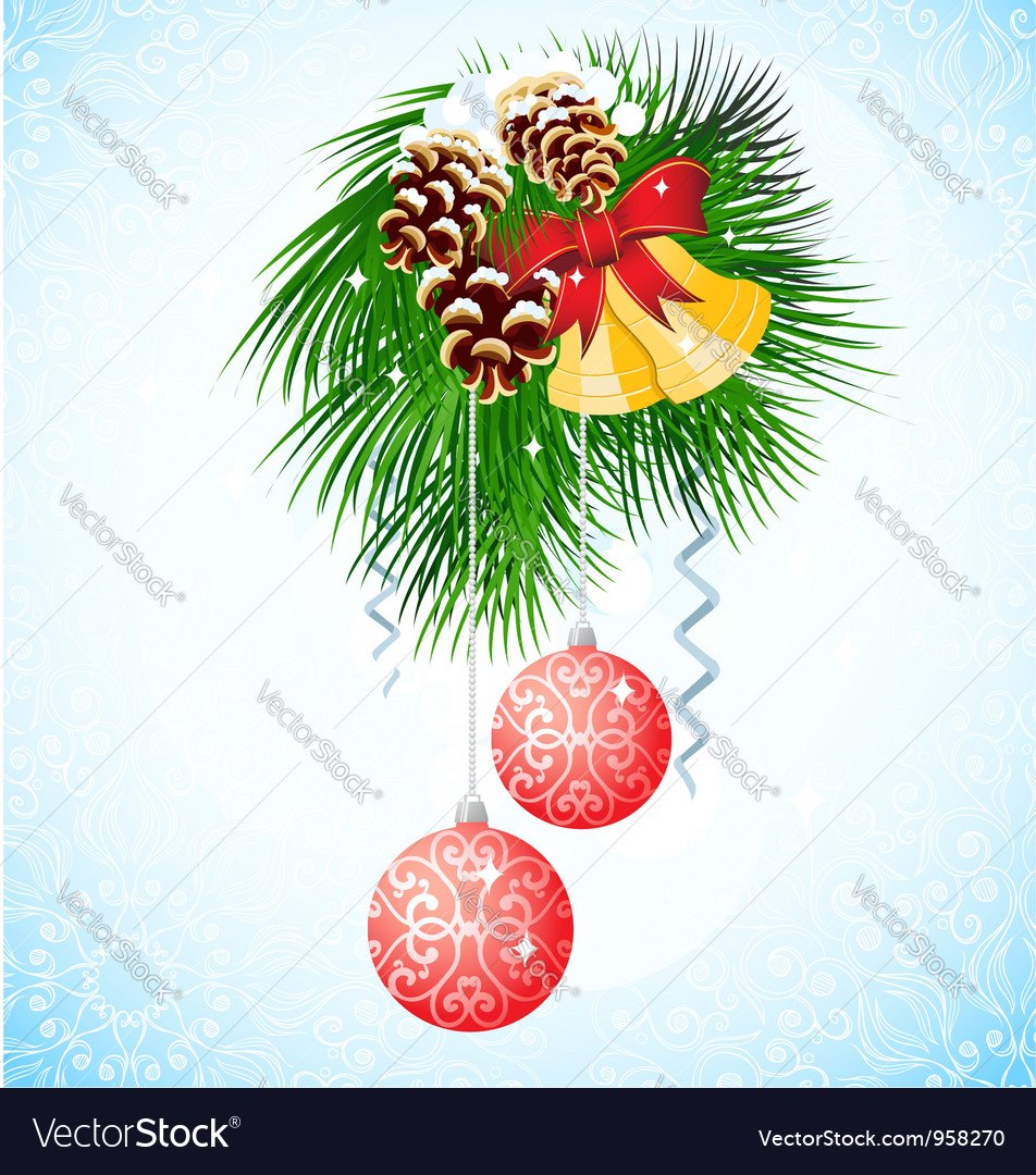 Branch of christmas tree vector | Price: 1 Credit (USD $1)
