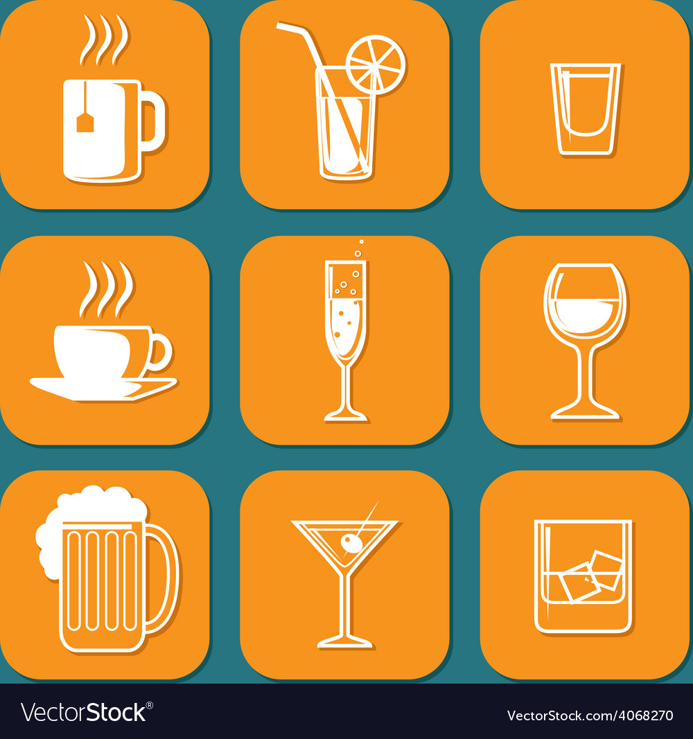 Drinking icons vector | Price: 1 Credit (USD $1)