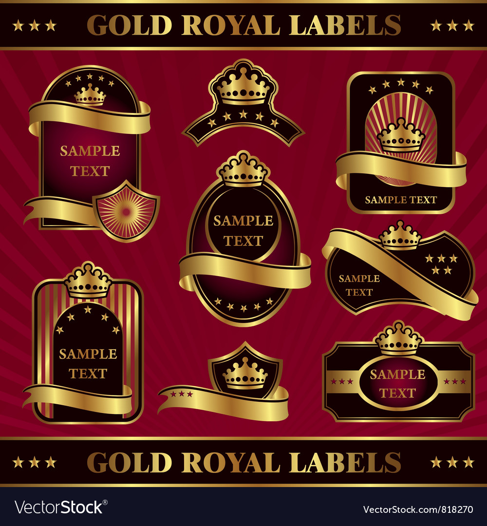 Gold royal labeles vector | Price: 3 Credit (USD $3)