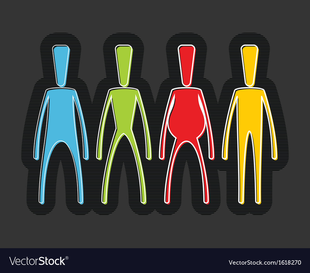 Group of people vector | Price: 1 Credit (USD $1)