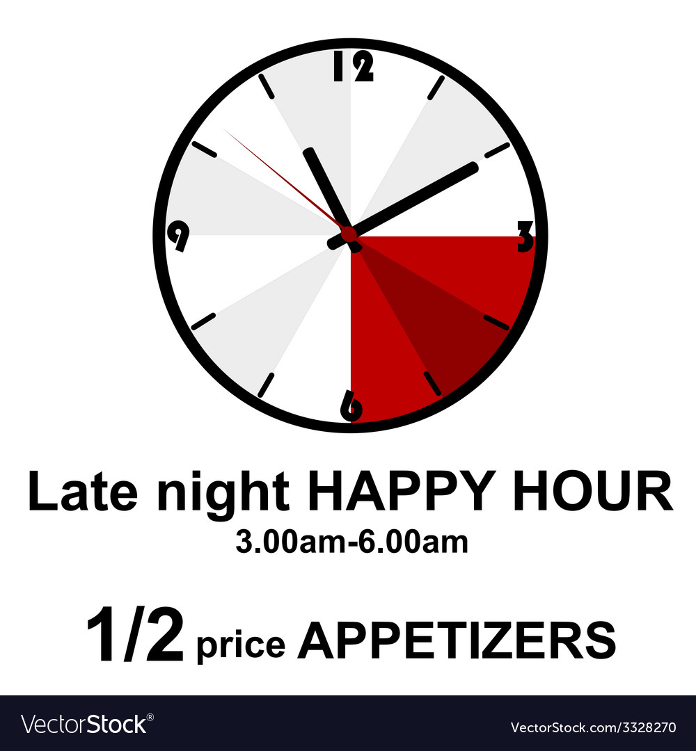 Late night happy hour for pubs vector | Price: 1 Credit (USD $1)