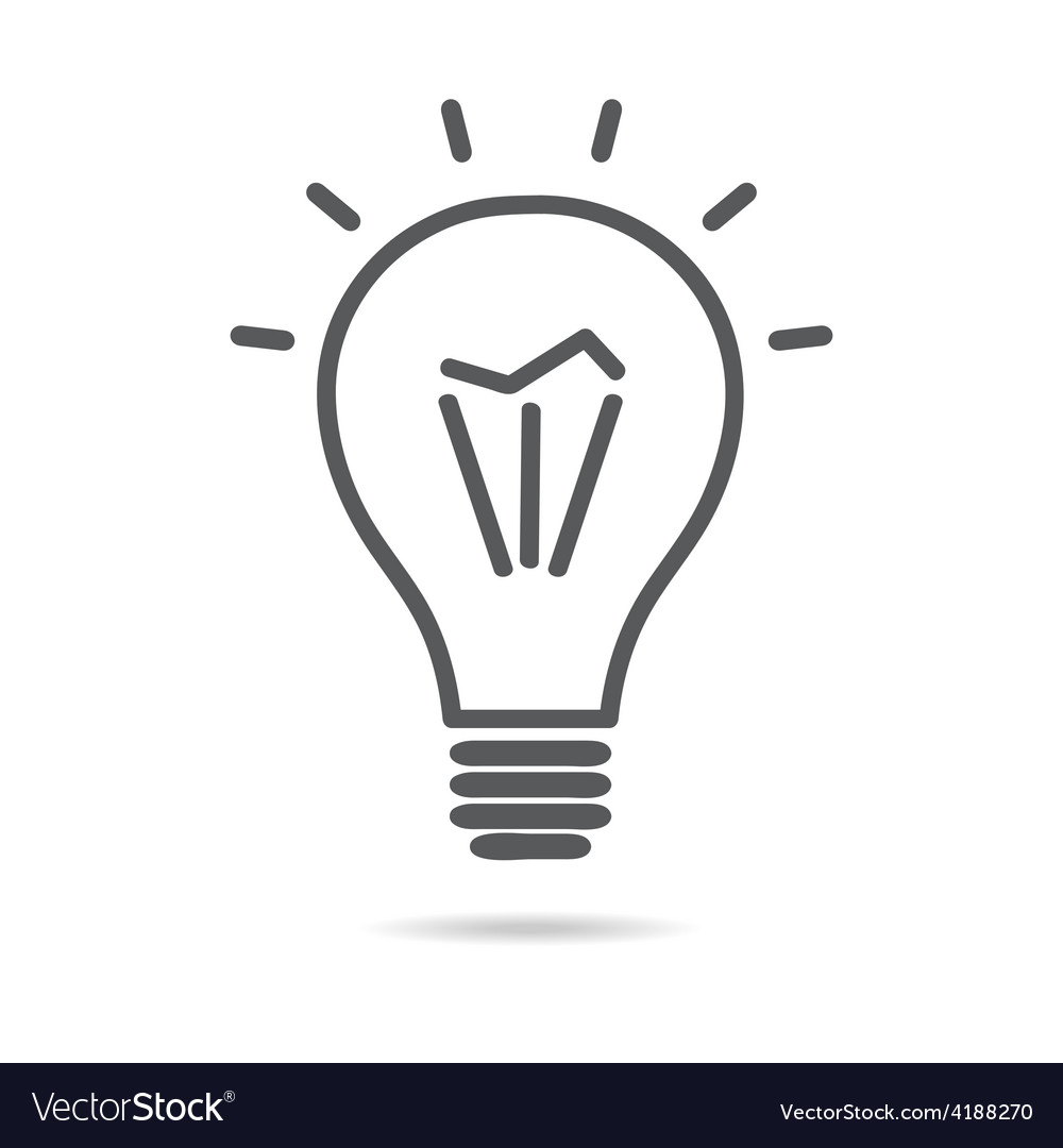 Light electrical bulb icon vector | Price: 1 Credit (USD $1)