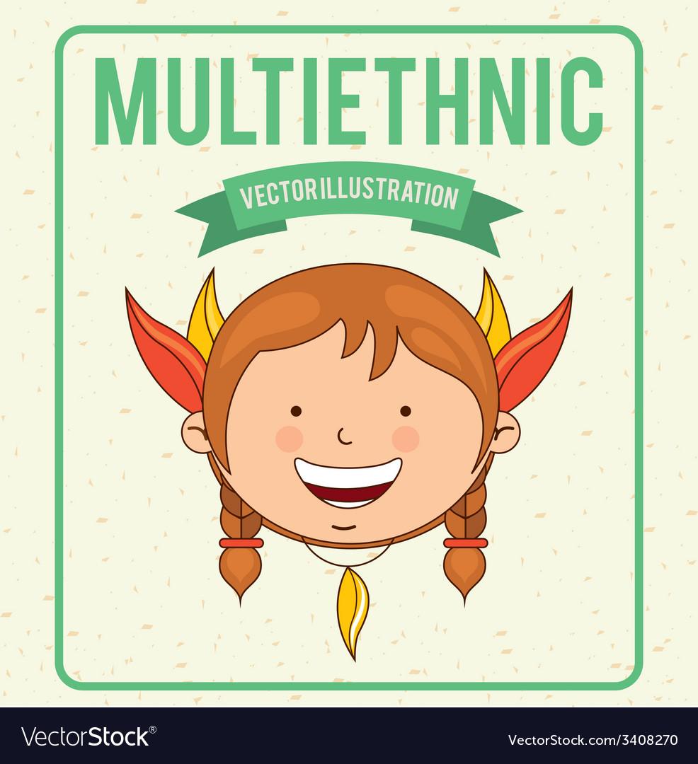 Multiethnic design vector | Price: 1 Credit (USD $1)