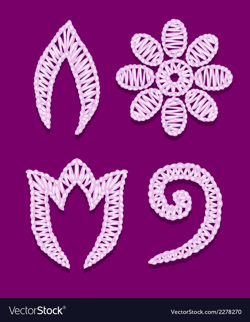 Openwork lace elements vector | Price: 1 Credit (USD $1)
