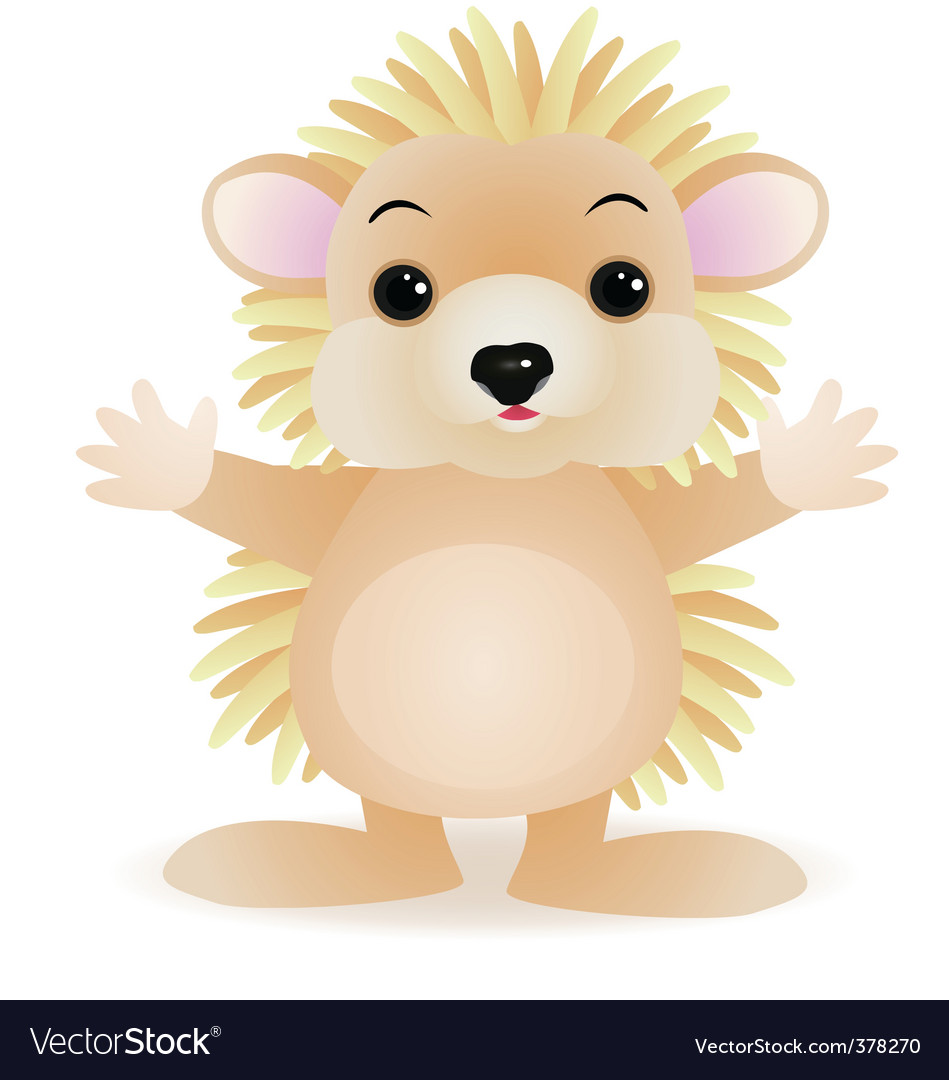 Porcupine cartoon vector | Price: 1 Credit (USD $1)
