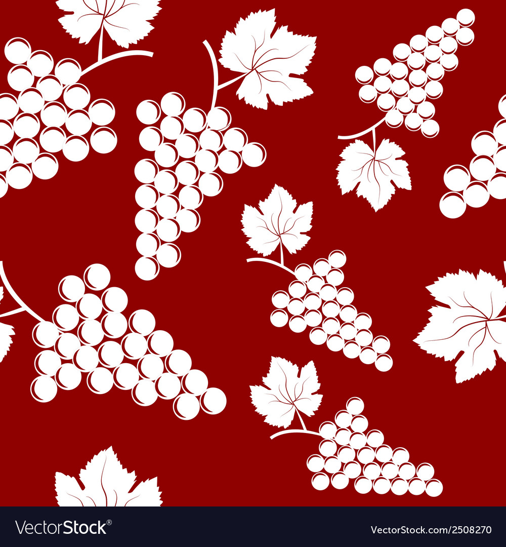 Seamless background with bunches of grapes vector | Price: 1 Credit (USD $1)