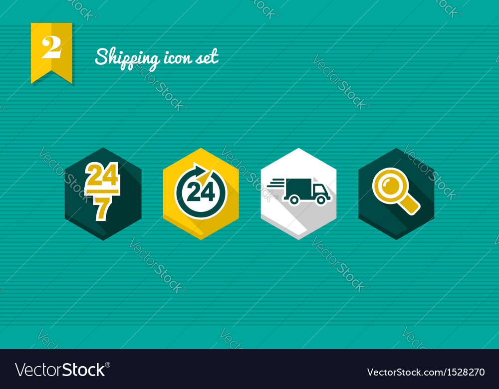 Shipping flat icons set vector | Price: 1 Credit (USD $1)