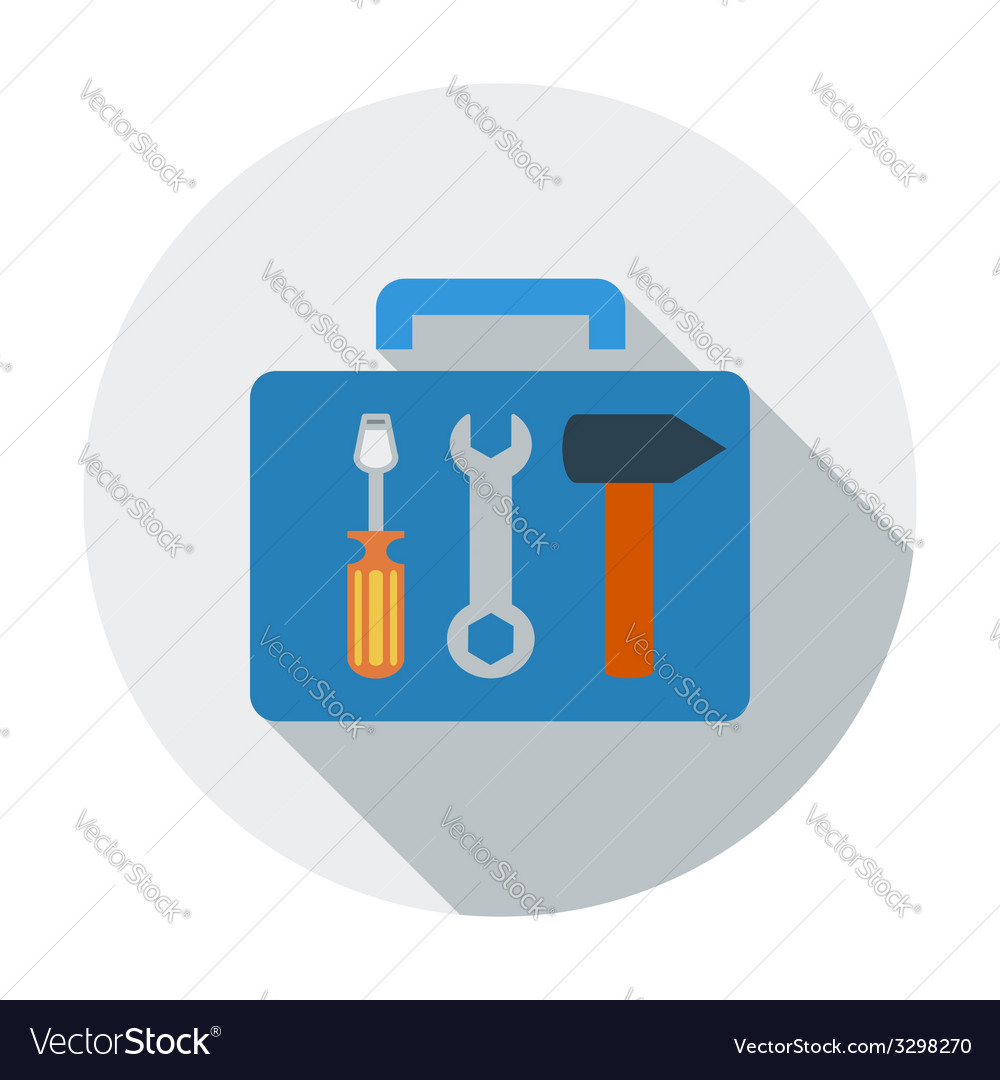 Tool box single icon vector | Price: 1 Credit (USD $1)