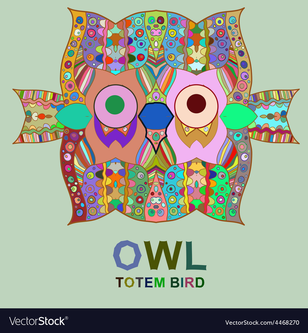 Vintage design with owl vector | Price: 1 Credit (USD $1)