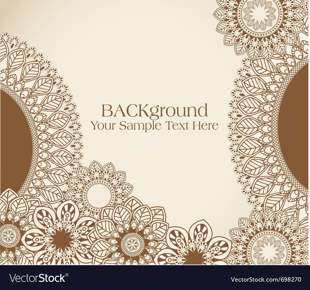 Vintage floral pattern background vector | Price: 1 Credit (USD $1)