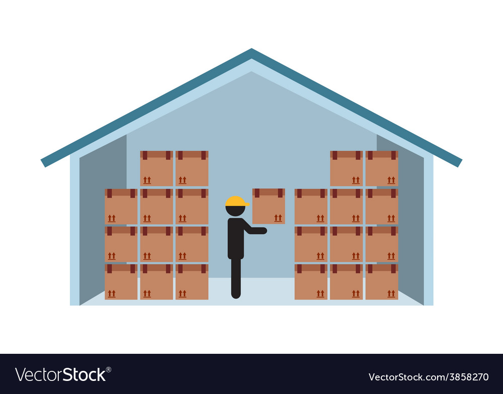 Warehouse vector | Price: 1 Credit (USD $1)