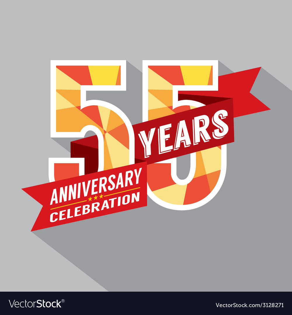 55th years anniversary celebration design vector | Price: 1 Credit (USD $1)