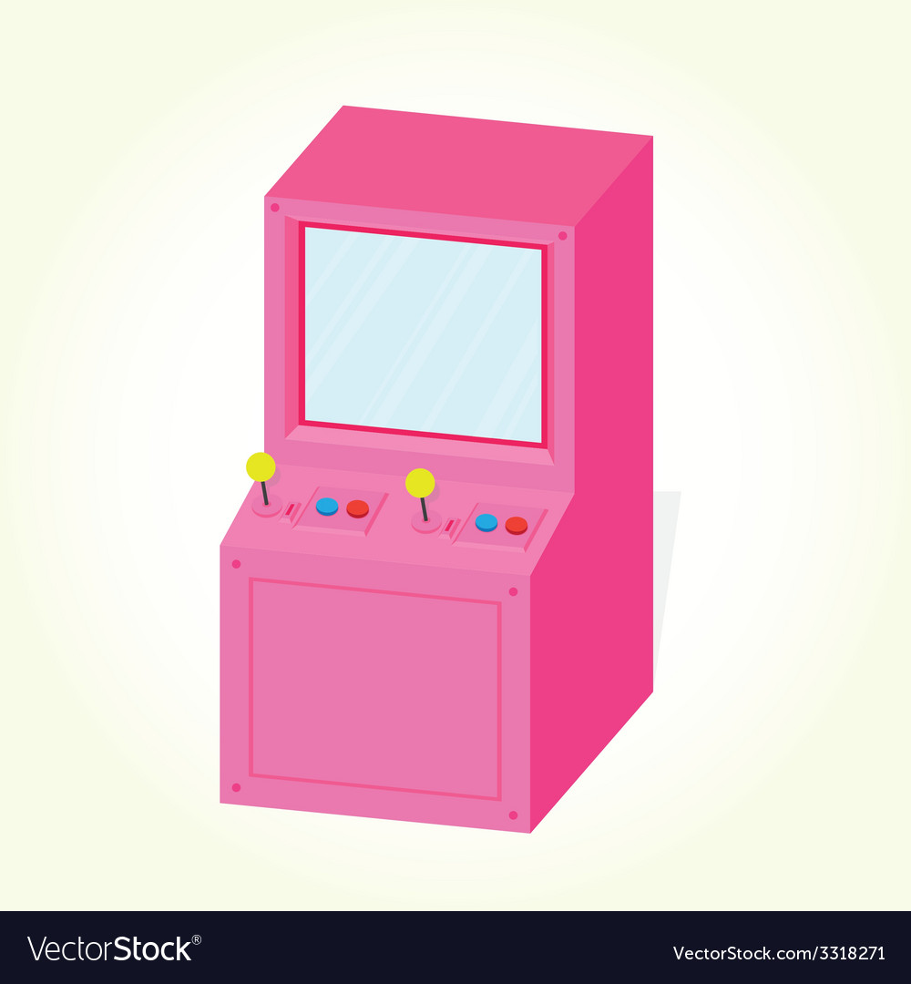 Arcade machine cabinet isolated vector | Price: 1 Credit (USD $1)