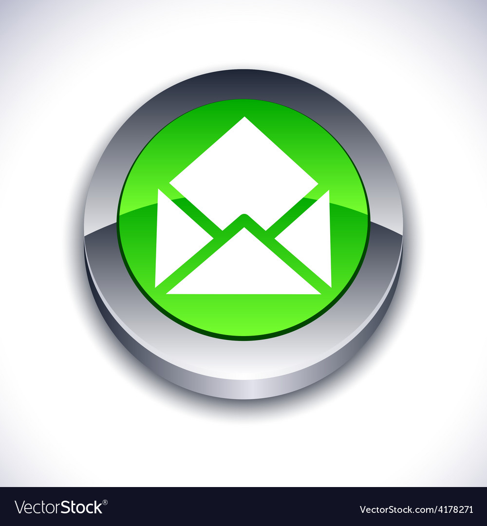 E-mail 3d button vector | Price: 1 Credit (USD $1)