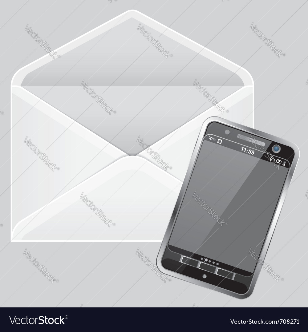 Envelope and smartphone vector | Price: 1 Credit (USD $1)