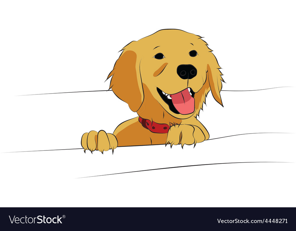 Golden retriever puppy vector | Price: 1 Credit (USD $1)