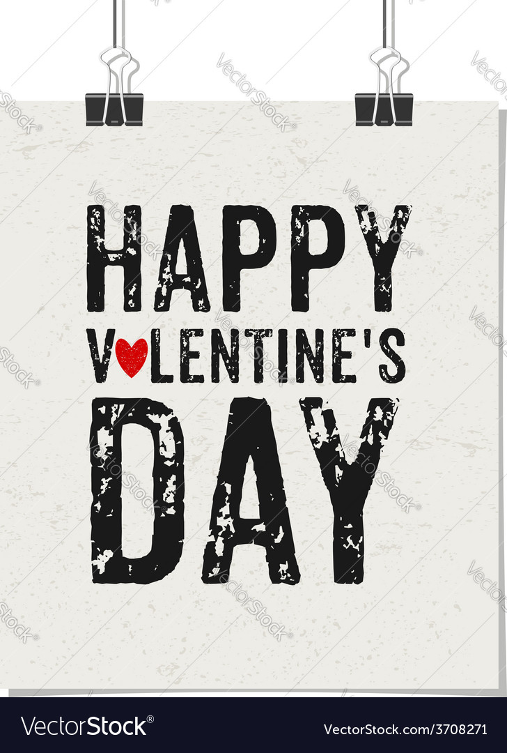 Happy valentines day vintage design poster vector | Price: 1 Credit (USD $1)