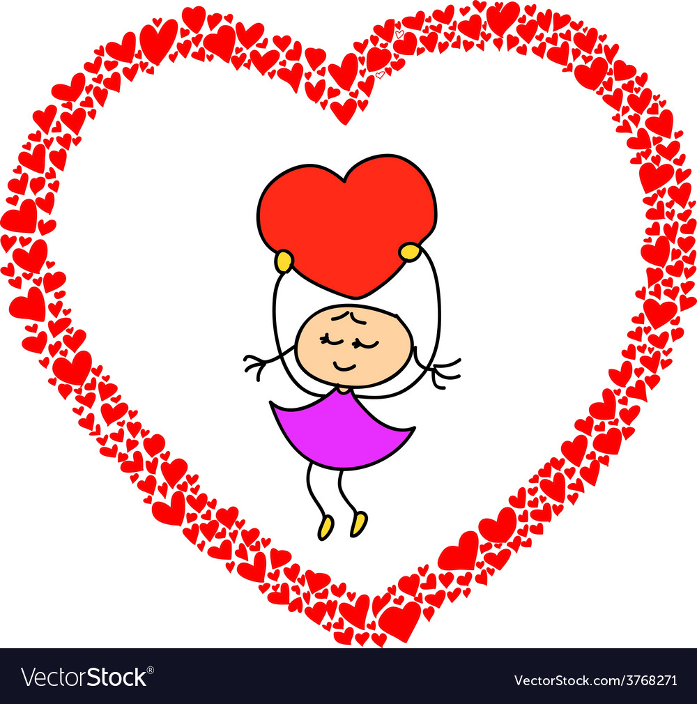 Heart sketch design for valentine vector | Price: 1 Credit (USD $1)
