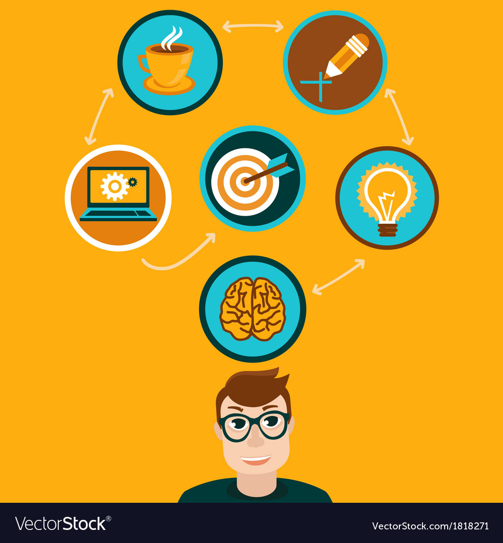 Idea concept in flat style vector | Price: 1 Credit (USD $1)