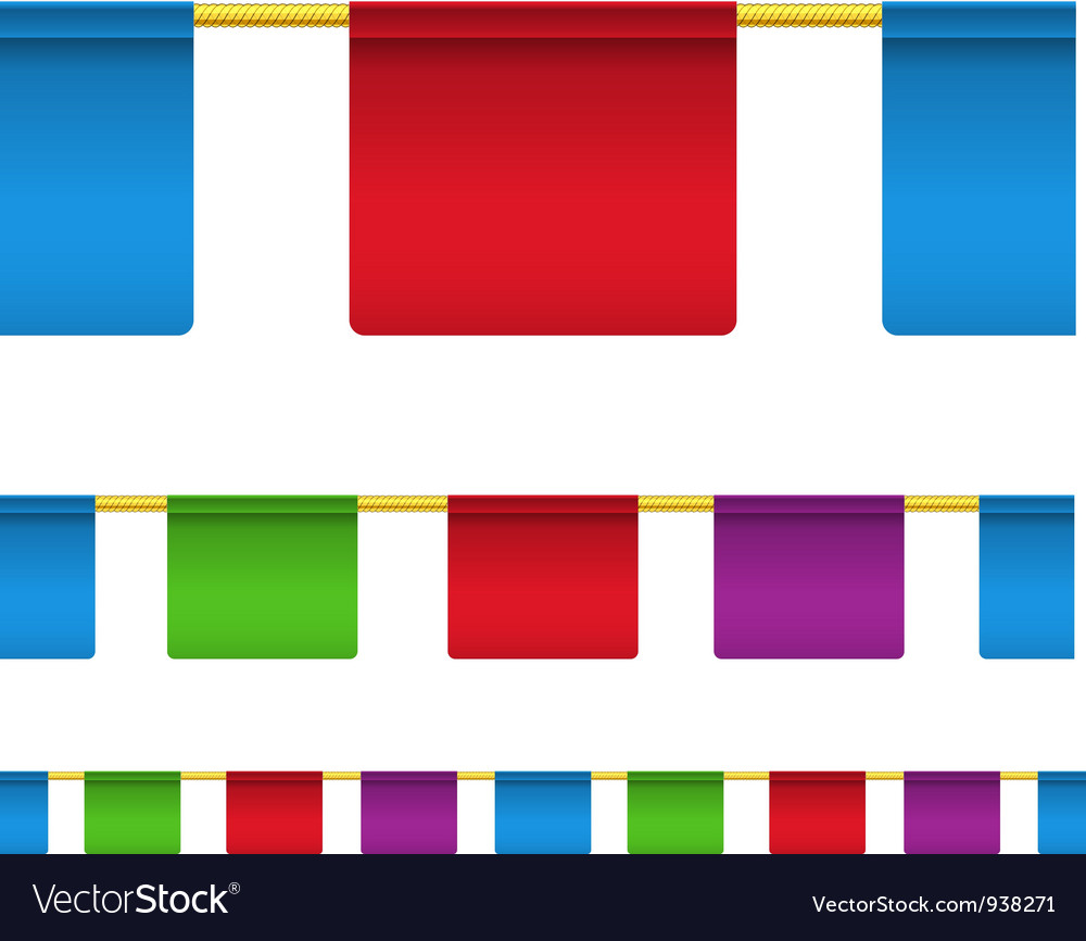 Rectangular flag banners vector | Price: 1 Credit (USD $1)