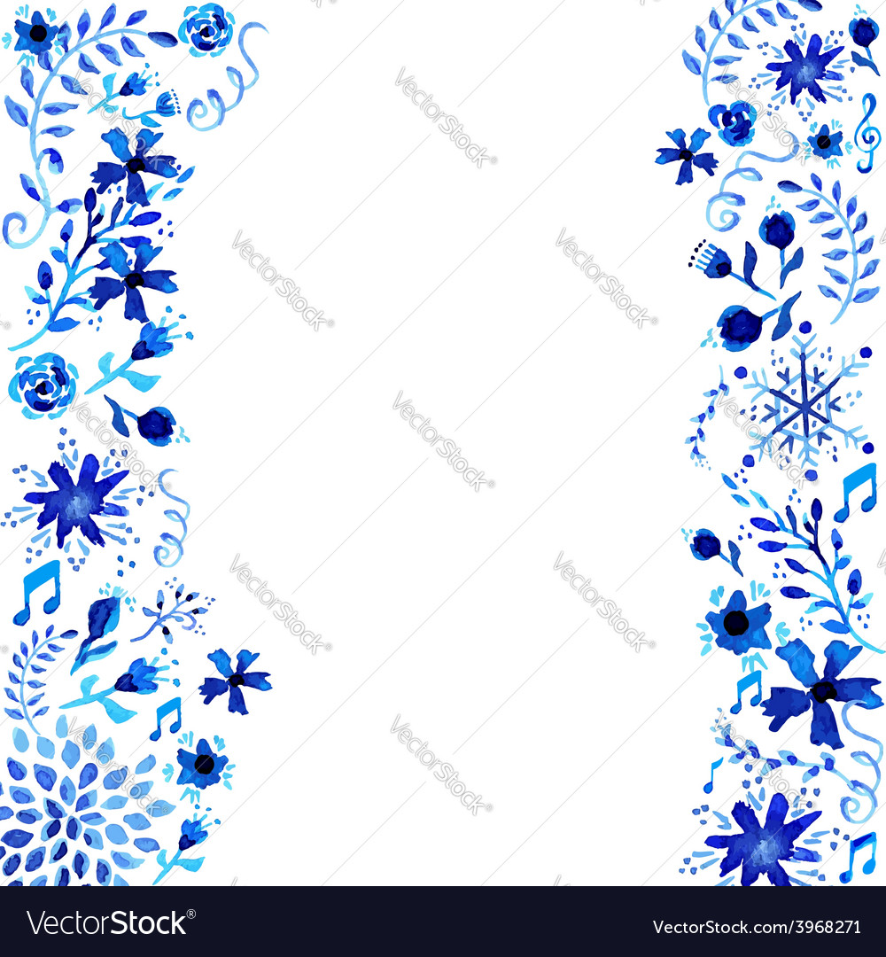 Watercolor floral frame background vector | Price: 1 Credit (USD $1)