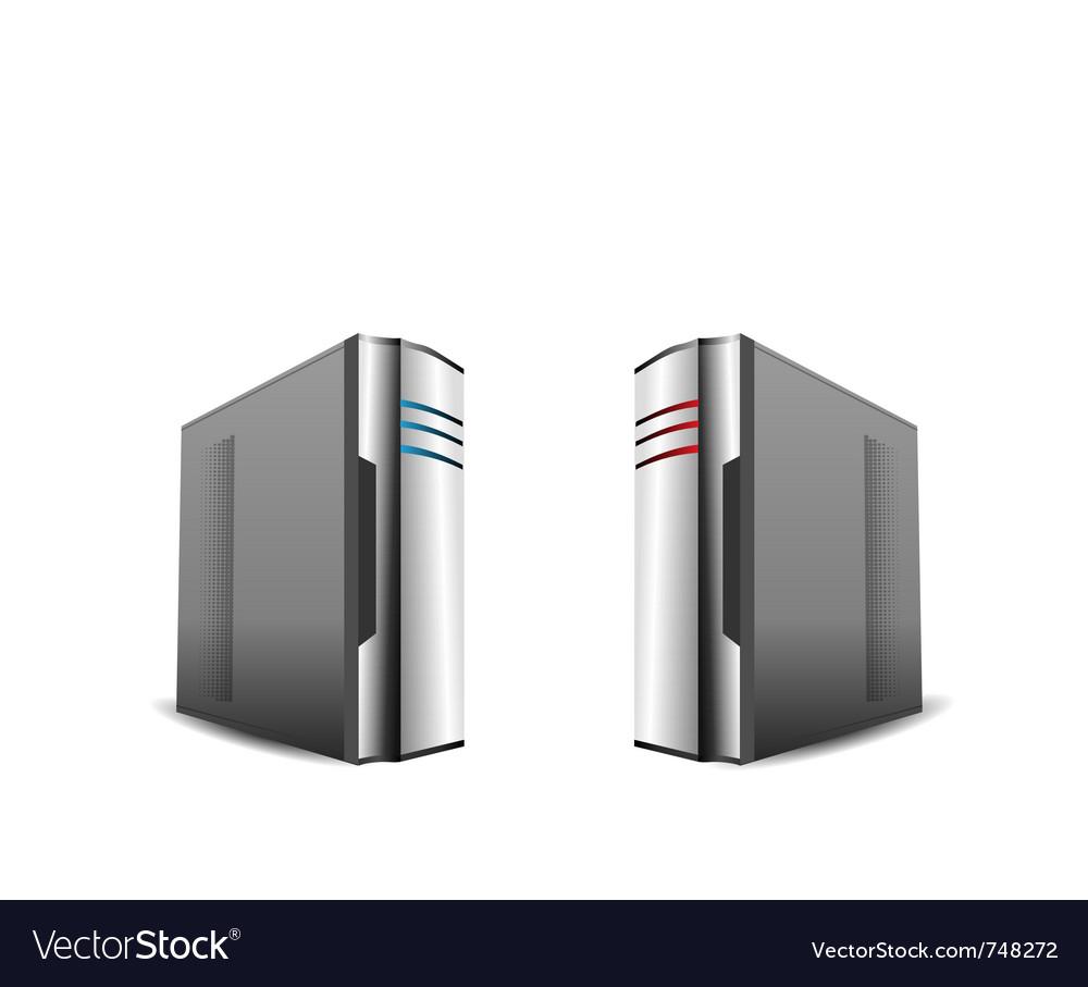 Computer servers vector | Price: 1 Credit (USD $1)
