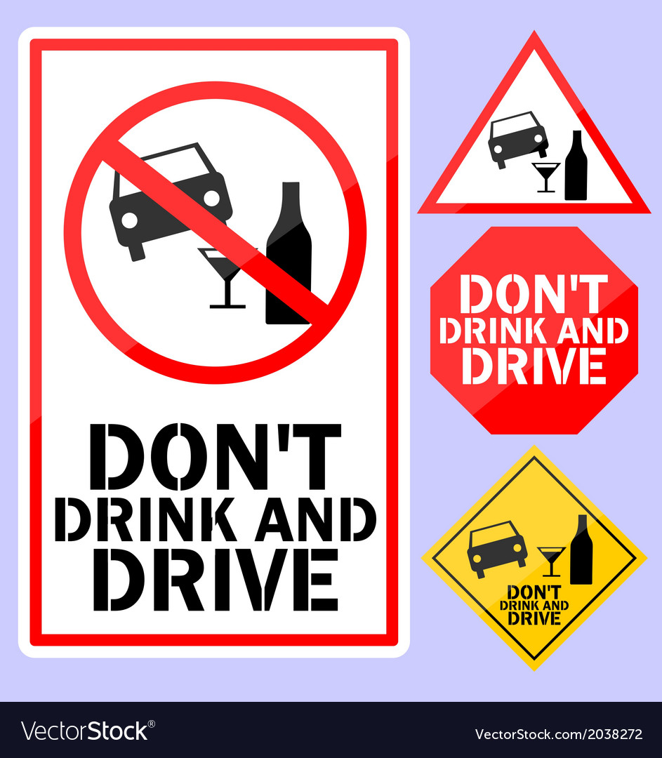 Dont drink and drive sign vector | Price: 1 Credit (USD $1)