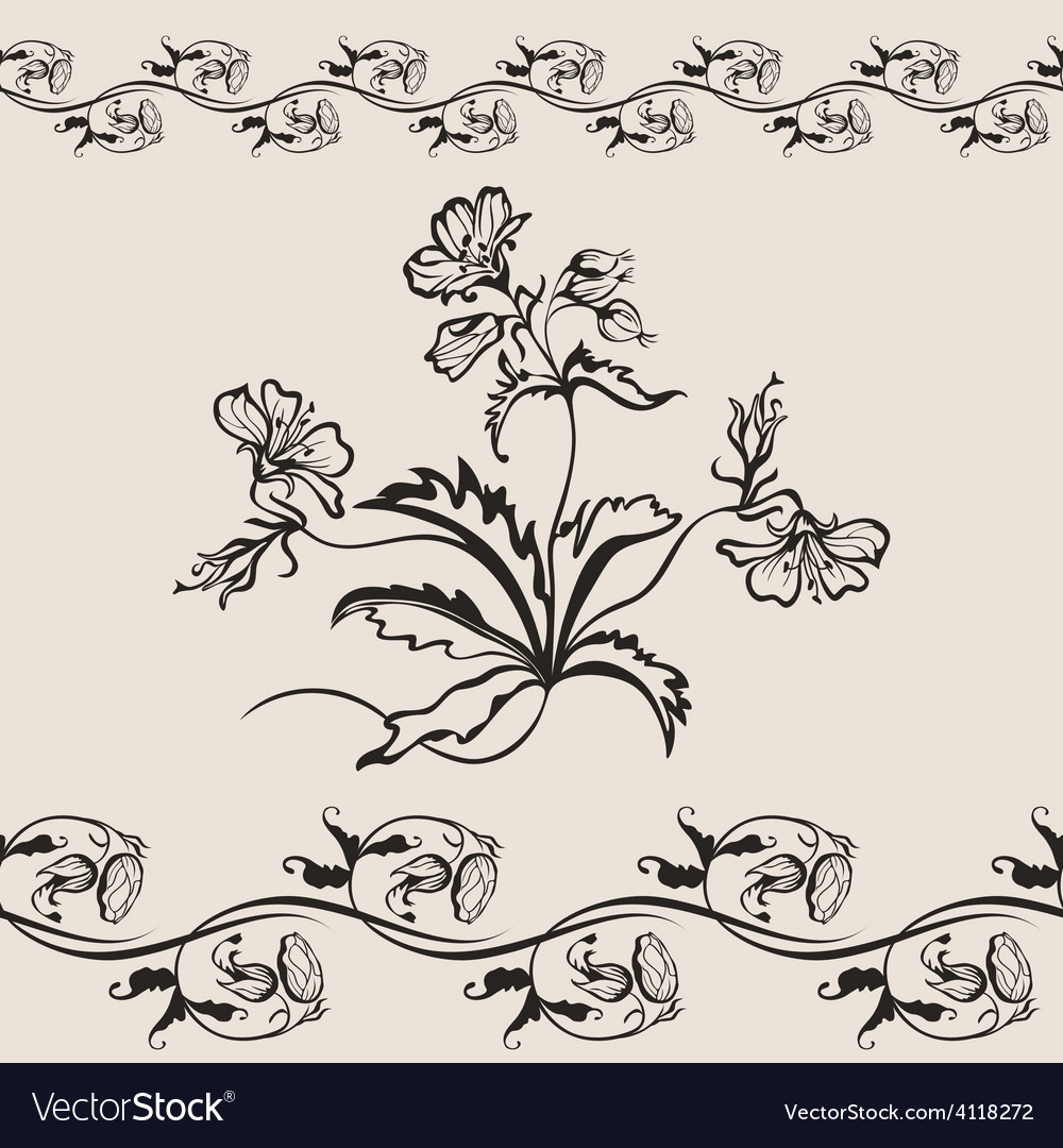 Flower floral seamless banner vector | Price: 1 Credit (USD $1)