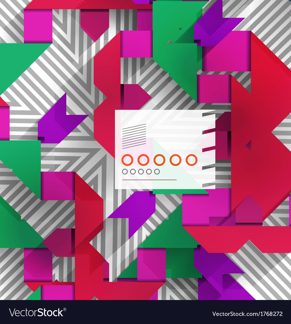 Geometric shape abstract background vector | Price: 1 Credit (USD $1)