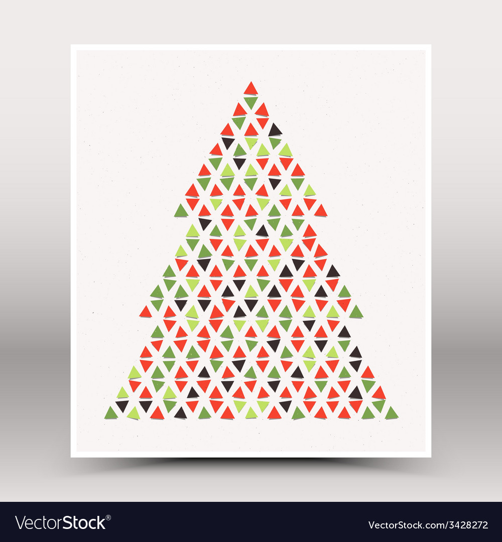 Happy christmas hand made poster vector | Price: 1 Credit (USD $1)
