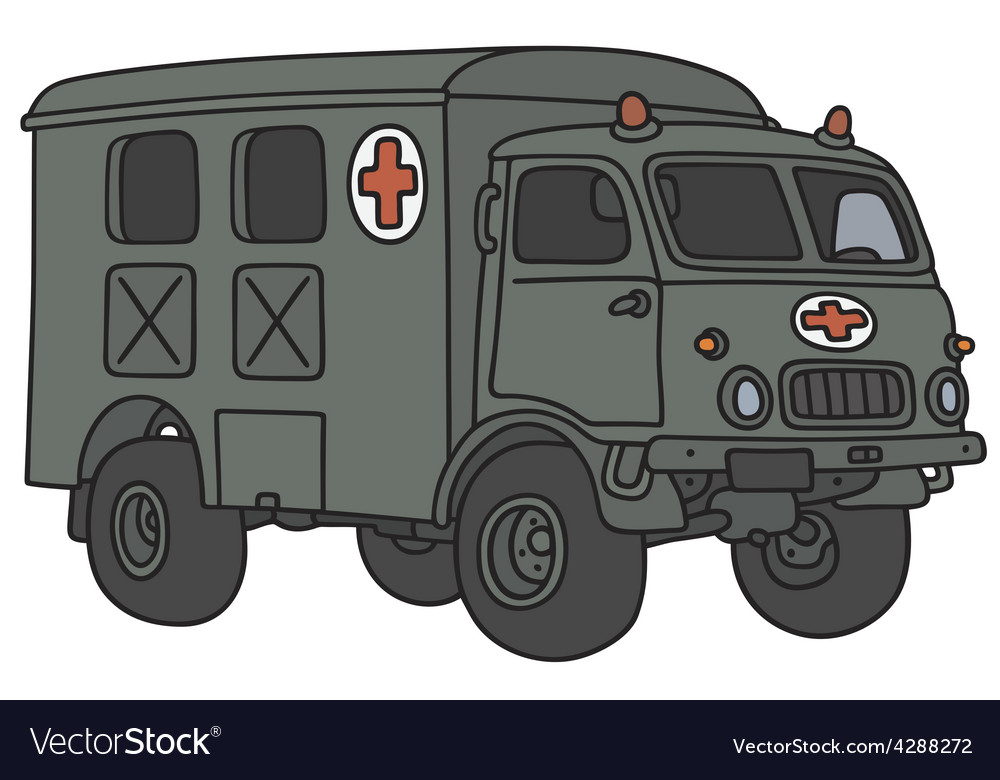 Old military ambulance vector | Price: 3 Credit (USD $3)