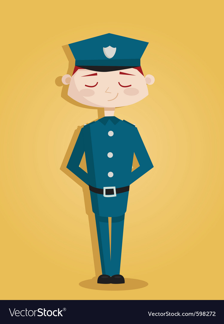 Policeman vector | Price: 3 Credit (USD $3)