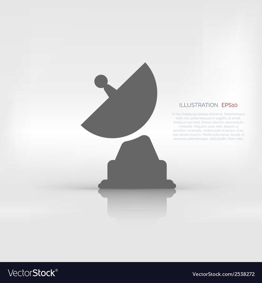 Satellite plate icon vector | Price: 1 Credit (USD $1)