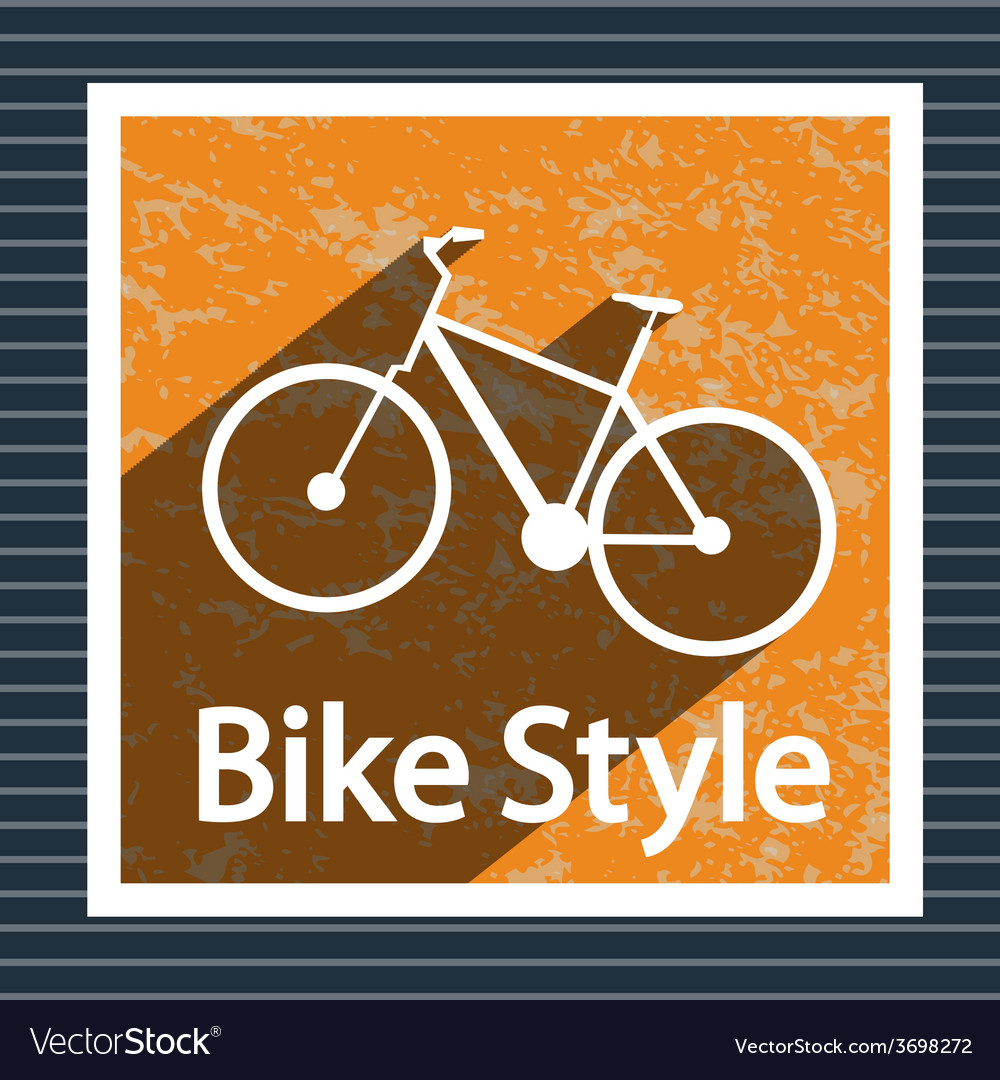 Simple flat images bike on the background vector | Price: 1 Credit (USD $1)