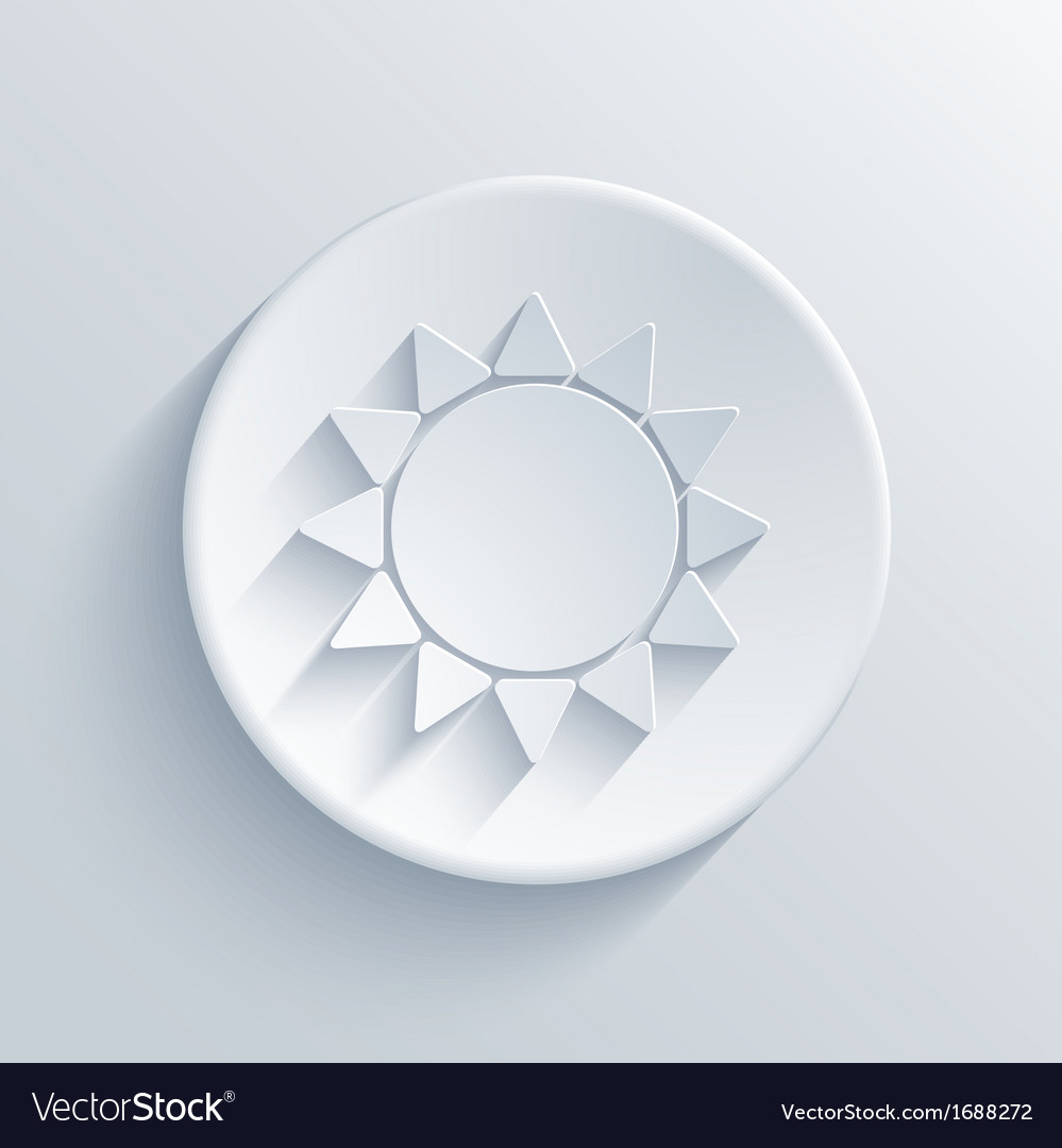 Sun circle icon eps10 vector | Price: 1 Credit (USD $1)