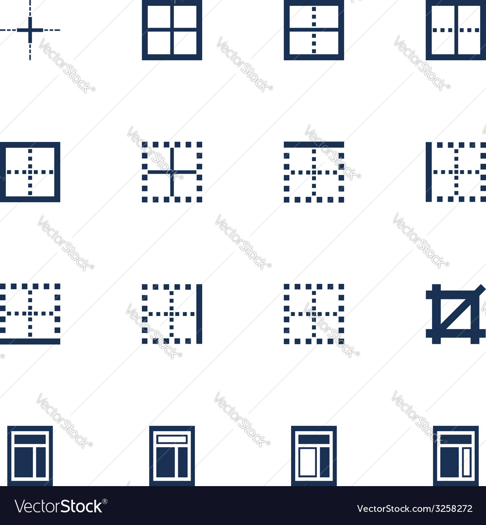 Windows icons vector | Price: 1 Credit (USD $1)