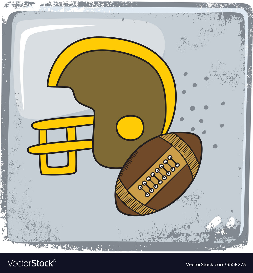 American football sports theme vector | Price: 1 Credit (USD $1)