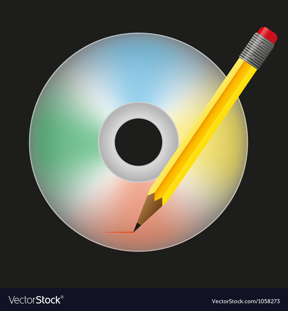 Burn cd vector | Price: 1 Credit (USD $1)