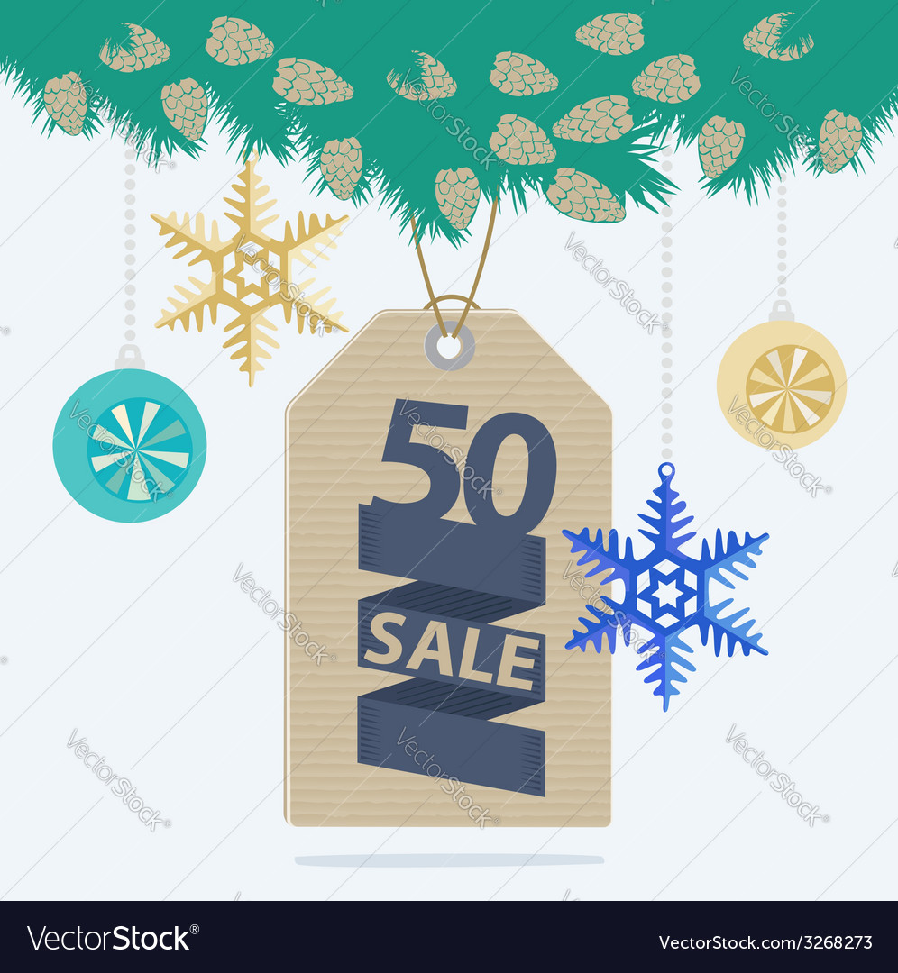 Christmas sale tag or label vector | Price: 1 Credit (USD $1)