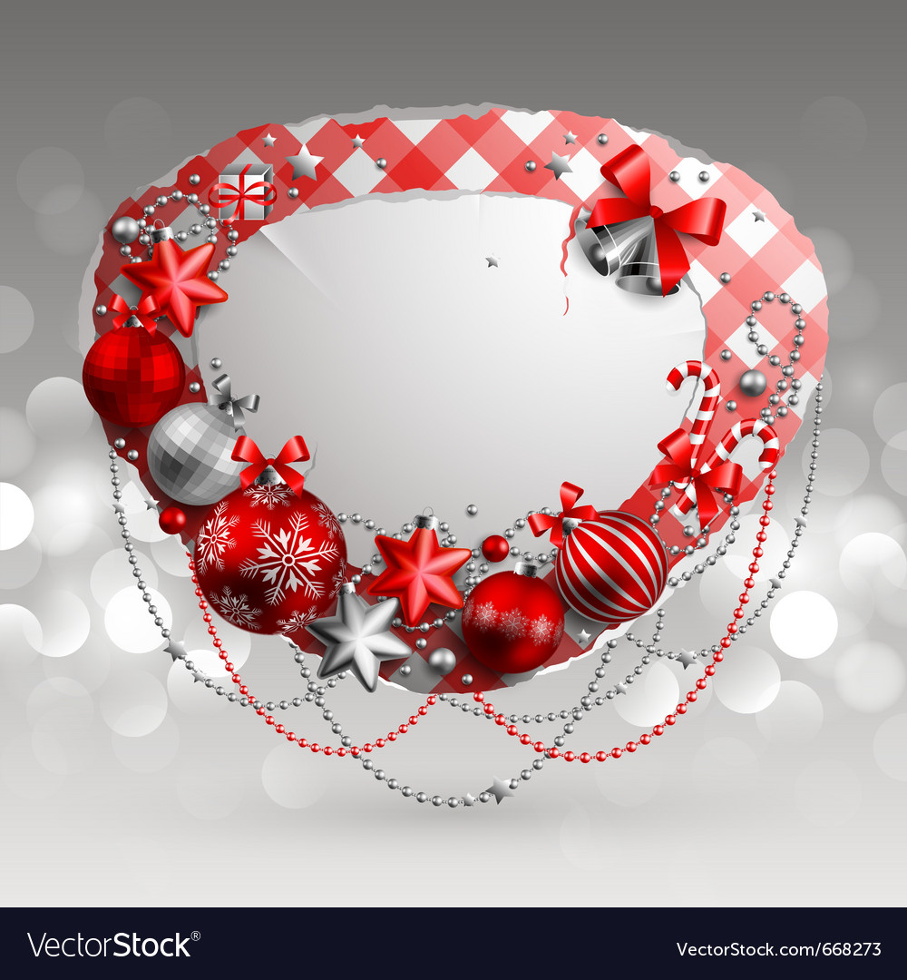 Christmas vintage bubble vector | Price: 1 Credit (USD $1)