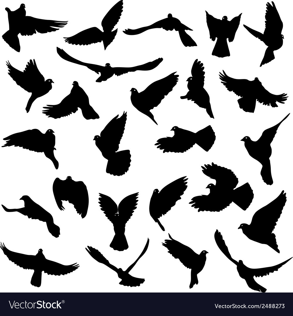 Concept of love or peace set of silhouettes of vector | Price: 1 Credit (USD $1)