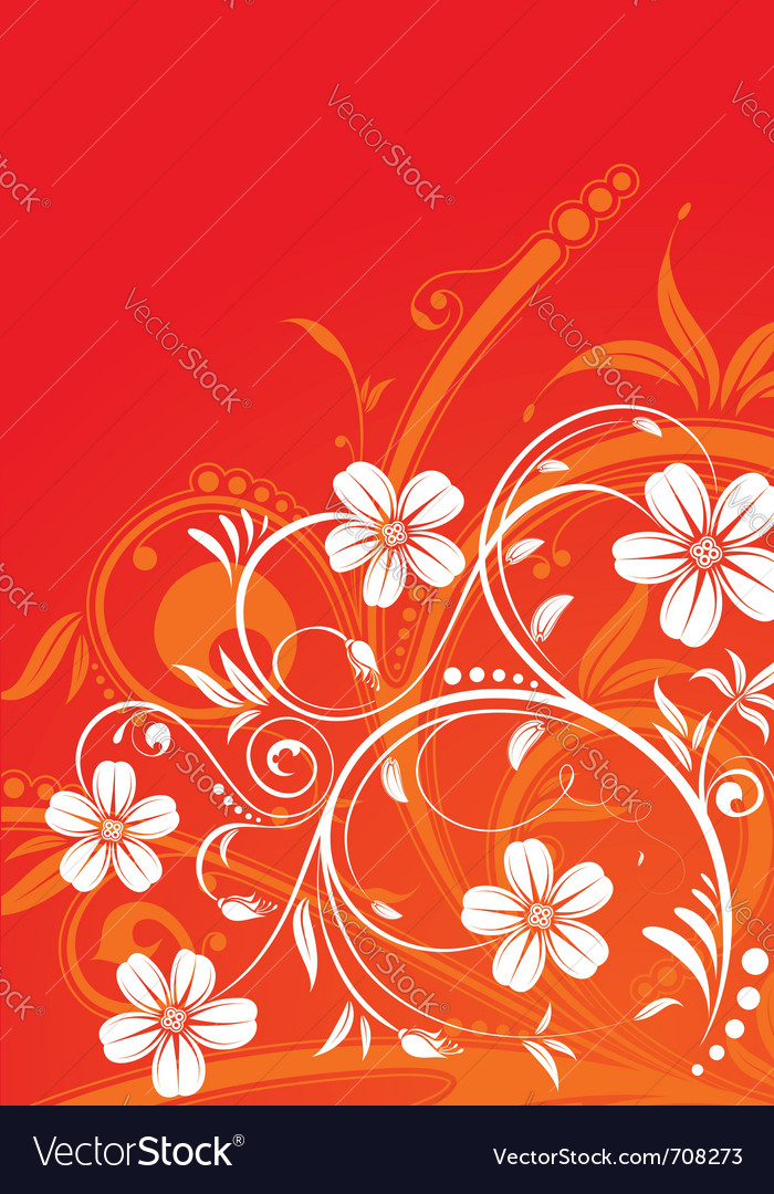 Decorative flower frame vector | Price: 1 Credit (USD $1)
