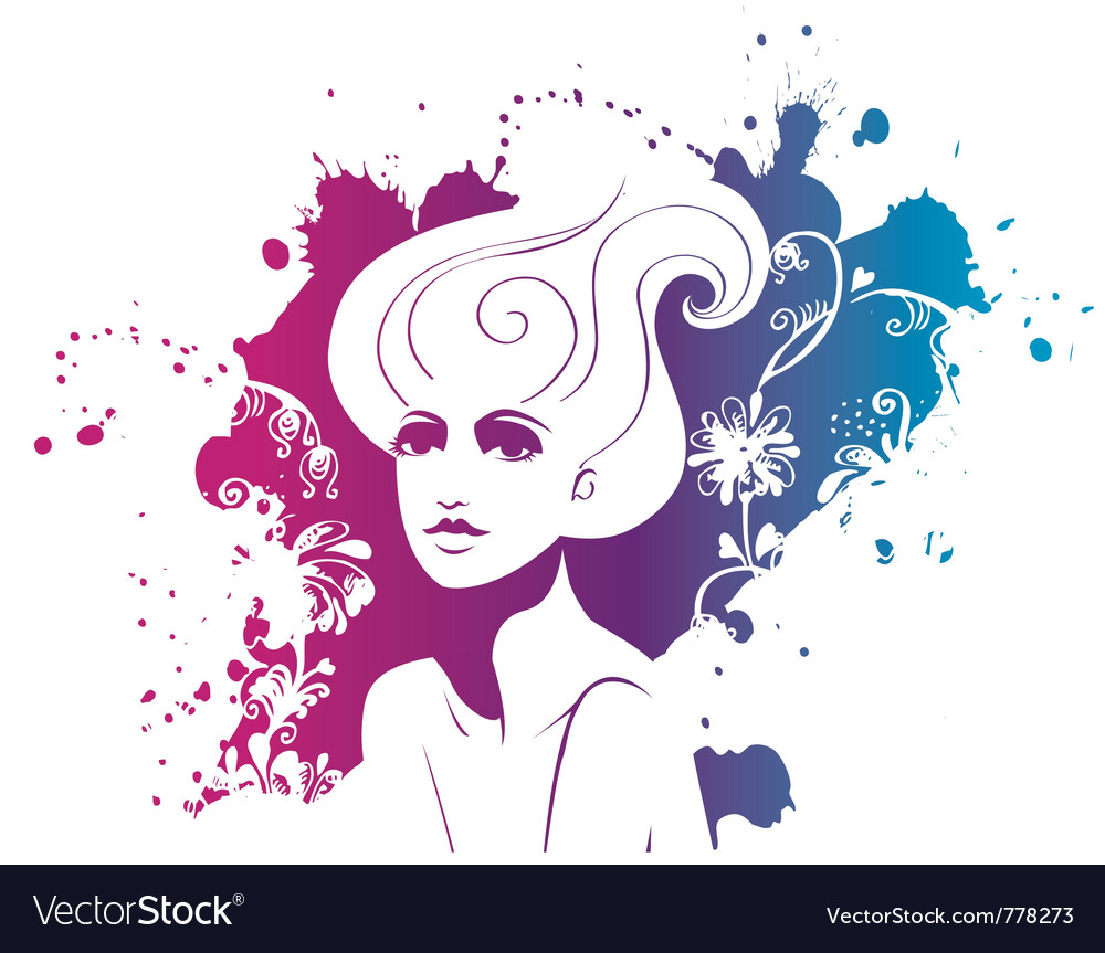 Fashion portrait of woman vector | Price: 1 Credit (USD $1)