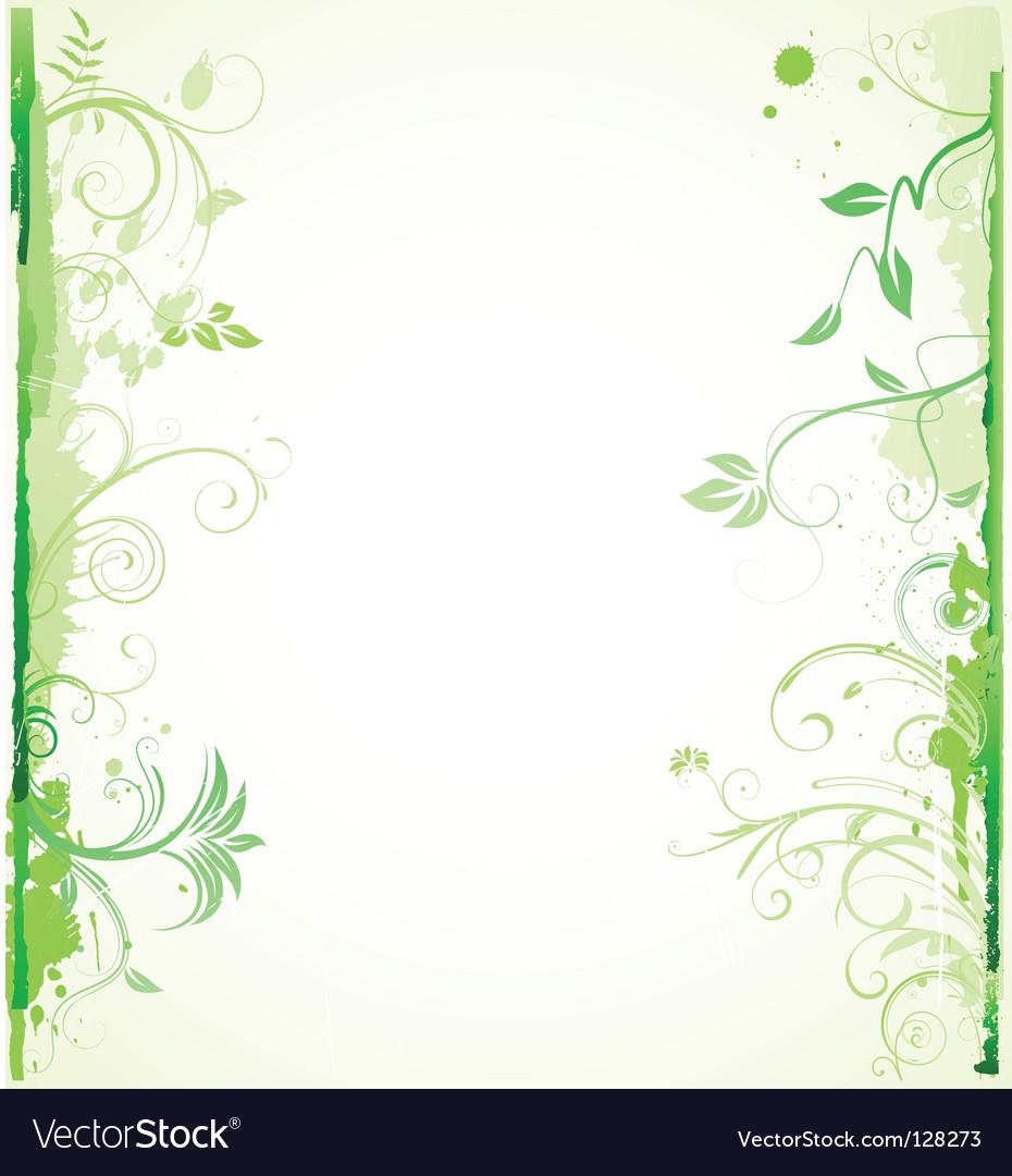 Floral decorative background vector | Price: 1 Credit (USD $1)