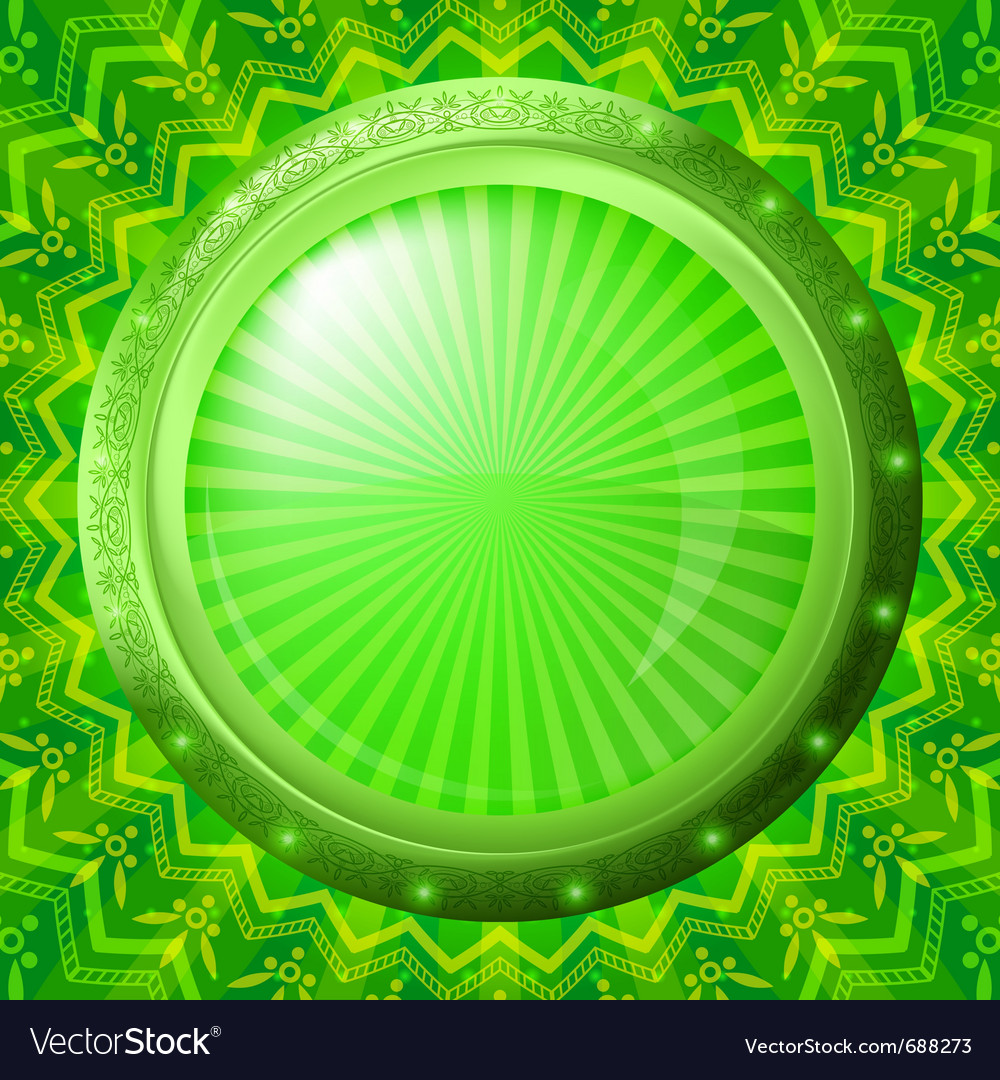 Glass porthole on green background vector | Price: 1 Credit (USD $1)