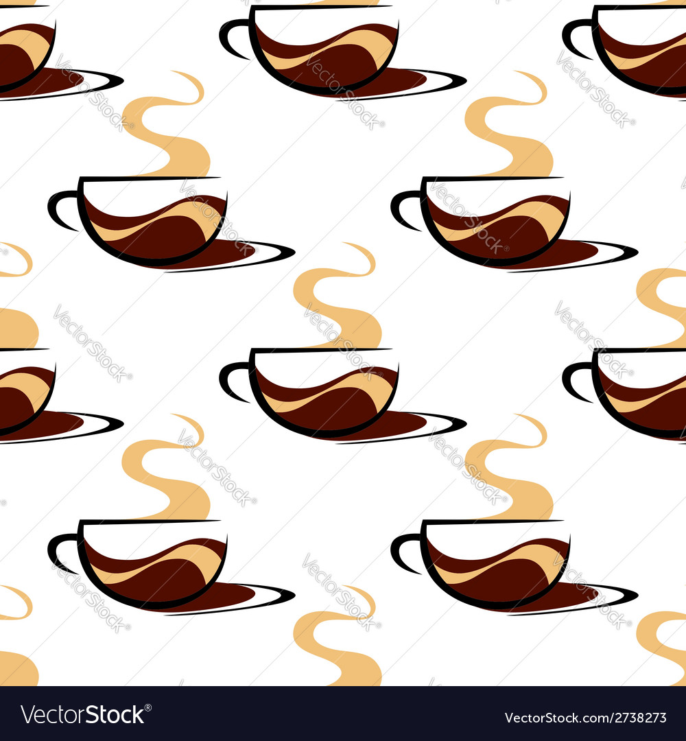 Hot seaming coffee seamless vector | Price: 1 Credit (USD $1)