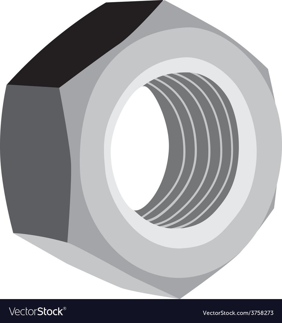 Metal screw female vector | Price: 1 Credit (USD $1)